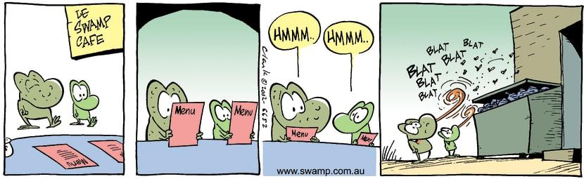 Swamp Cartoon - Le Swamp CafeJanuary 10, 2003
