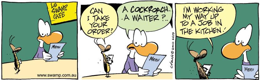 Swamp Cartoon - Cafe 2January 18, 2003