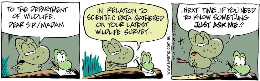 Swamp Cartoon - Wildlife DataJanuary 22, 2003