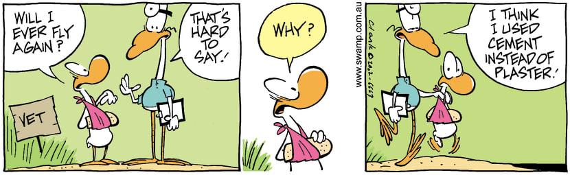 Swamp Cartoon - Fly AgainJanuary 23, 2003