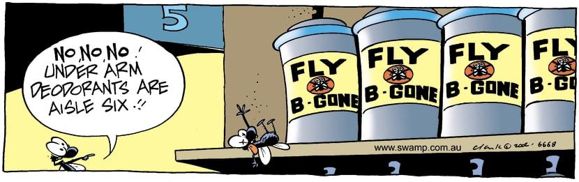 Swamp Cartoon - Fly B GoneJanuary 28, 2003