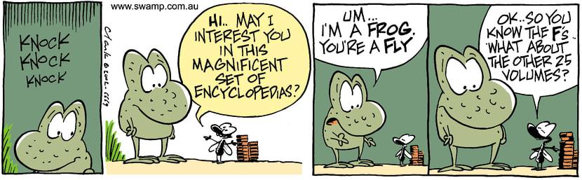 Swamp Cartoon - Sales RepJanuary 29, 2003