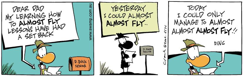 Swamp Cartoon - Almost Fly 2February 6, 2003