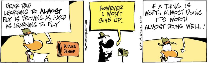 Swamp Cartoon - Almost Fly 3February 7, 2003