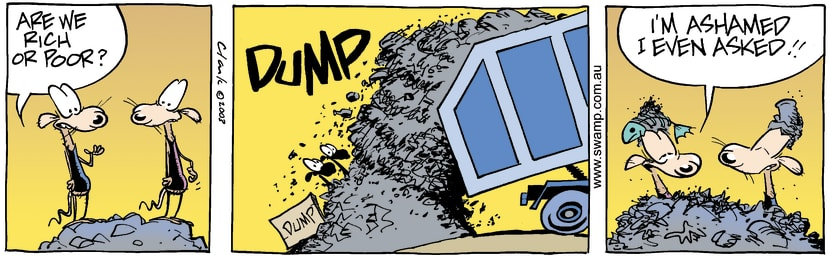 Swamp Cartoon - Rich or PoorFebruary 10, 2003