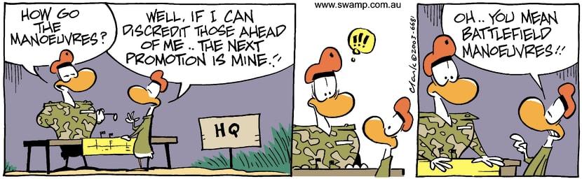 Swamp Cartoon - ManoeuvresFebruary 12, 2003