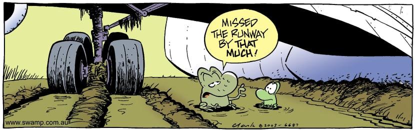 Swamp Cartoon - LandingFebruary 19, 2003
