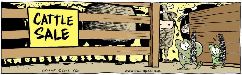 Swamp Cartoon - Cattle SaleFebruary 21, 2003