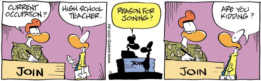 Swamp Cartoon - Joining TeacherFebruary 25, 2003