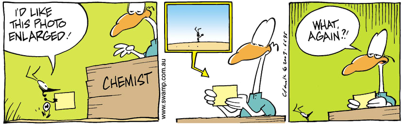 Swamp Cartoon - Ant Photos 2February 28, 2003