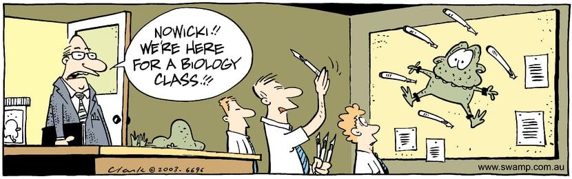 Swamp Cartoon - BiologyMarch 1, 2003