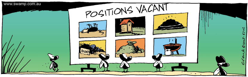 Swamp Cartoon - Positions VacantMarch 8, 2003