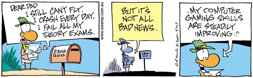 Swamp Cartoon - Good NewsMarch 10, 2003