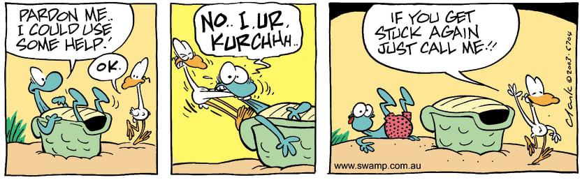 Swamp Cartoon - HelpMarch 11, 2003