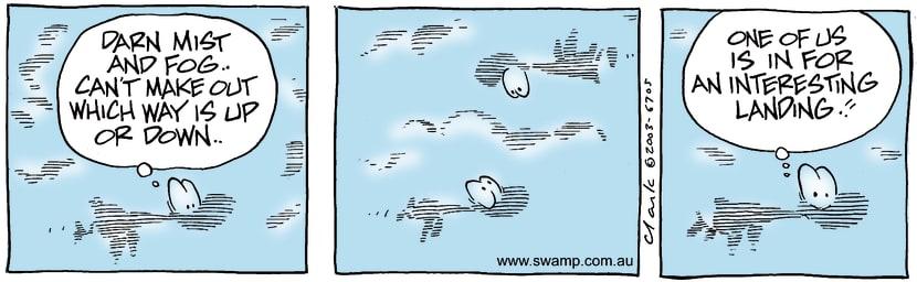 Swamp Cartoon - Misty FogMarch 12, 2003