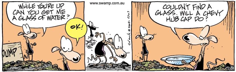 Swamp Cartoon - Glass WaterMarch 14, 2003