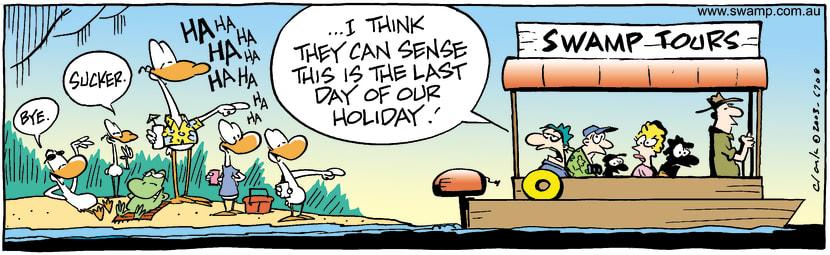Swamp Cartoon - HolidaysMarch 15, 2003