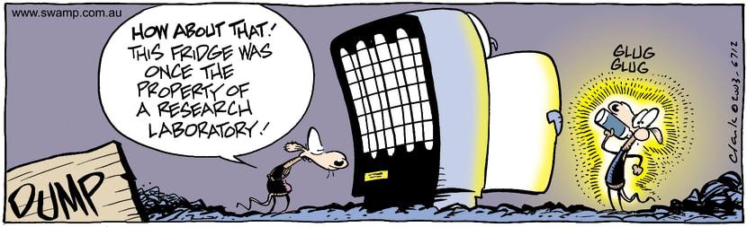 Swamp Cartoon - FridgeMarch 20, 2003