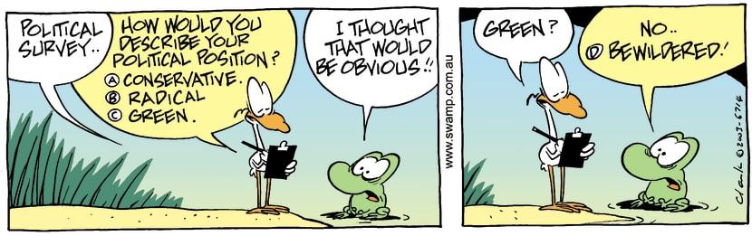 Swamp Cartoon - Political SurveyMarch 22, 2003