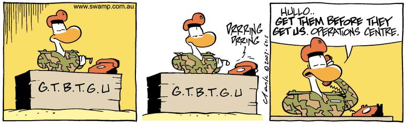Swamp Cartoon - GTBTGUMarch 24, 2003