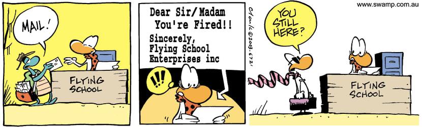 Swamp Cartoon - FiredMarch 31, 2003