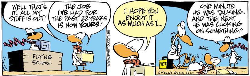 Swamp Cartoon - Fired 3April 2, 2003