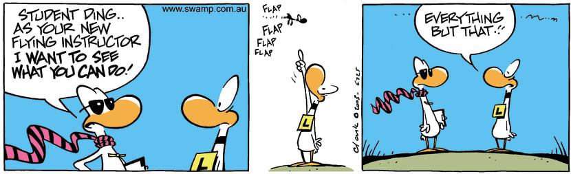 Swamp Cartoon - AccomplishmentApril 4, 2003