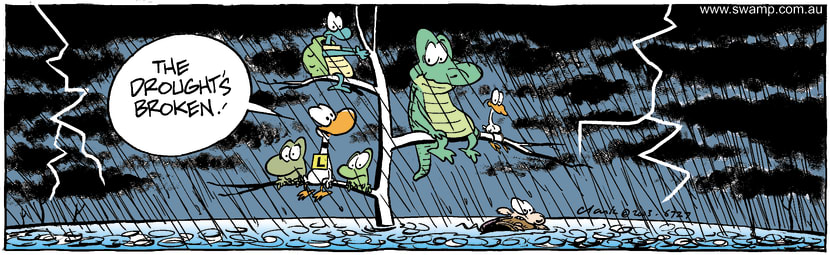 Swamp Cartoon - DroughtApril 7, 2003