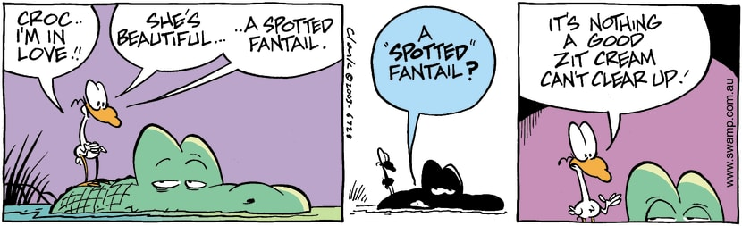 Swamp Cartoon - Spotted FantailApril 8, 2003