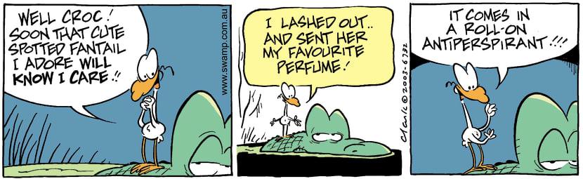 Swamp Cartoon - PerfumeApril 12, 2003