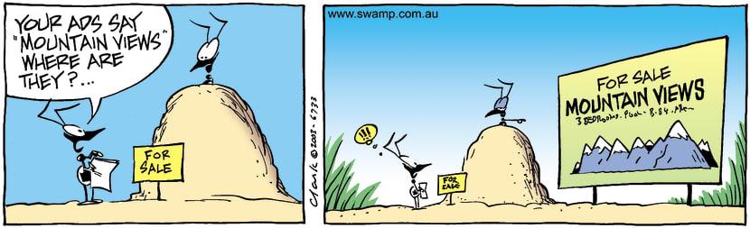 Swamp Cartoon - Mountain ViewsApril 14, 2003