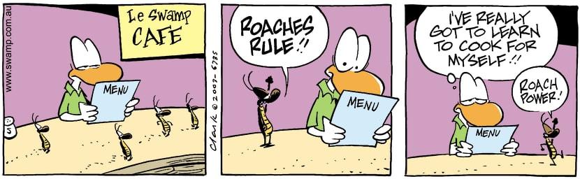 Swamp Cartoon - Cafe 4April 16, 2003
