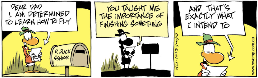 Swamp Cartoon - FinishingApril 19, 2003