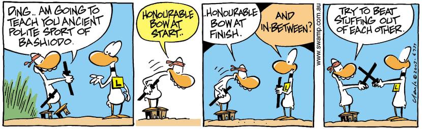 Swamp Cartoon - BashiodoApril 21, 2003