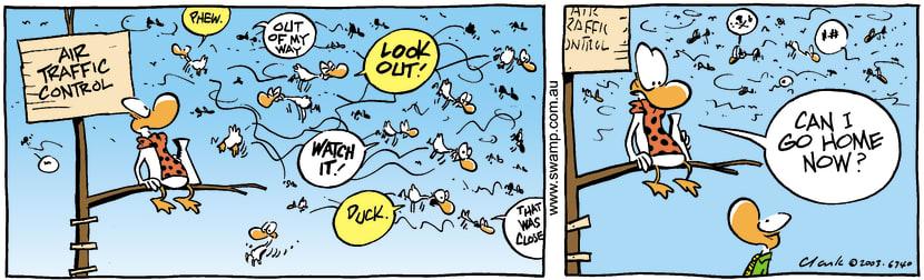 Swamp Cartoon - Busy DayApril 22, 2003