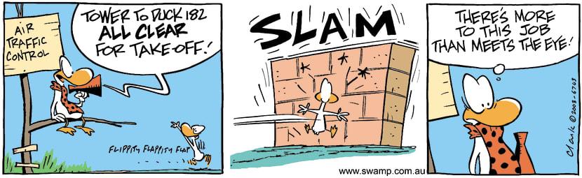 Swamp Cartoon - Tough JobApril 25, 2003