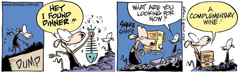 Swamp Cartoon - DinnerMay 1, 2003