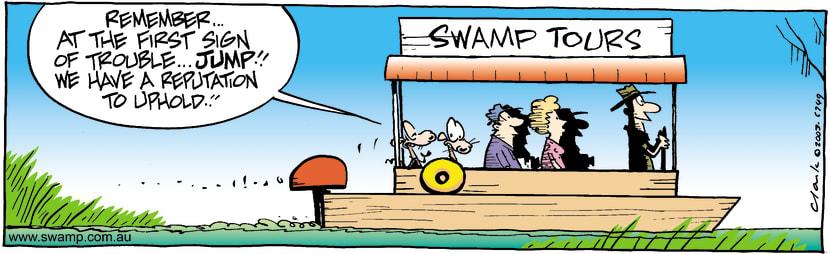 Swamp Cartoon - JumpMay 2, 2003
