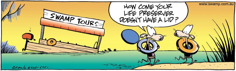 Swamp Cartoon - RescueMay 5, 2003