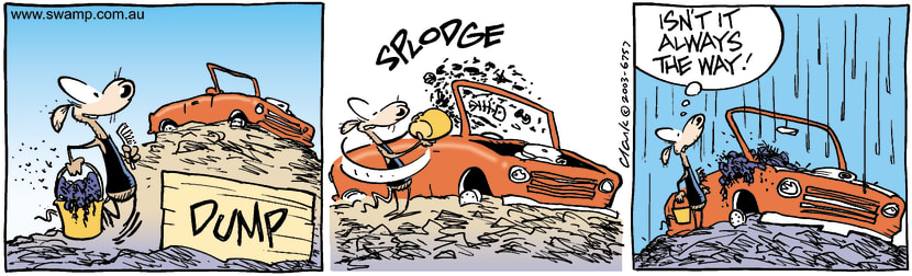 Swamp Cartoon - Car WashMay 12, 2003