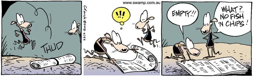 Swamp Cartoon - NewspaperMay 14, 2003