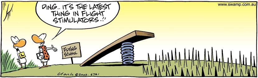 Swamp Cartoon - Flight MethodMay 16, 2003