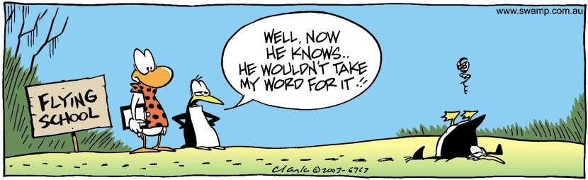 Swamp Cartoon - Told Him SoMay 19, 2003