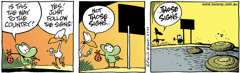 Swamp Cartoon - Those SignsMay 22, 2003