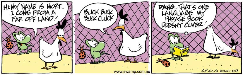 Swamp Cartoon - Buck CluckMay 26, 2003