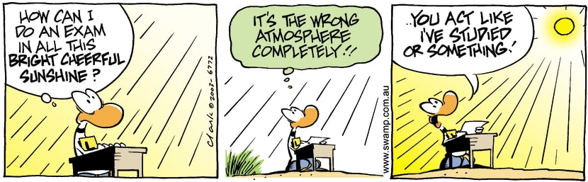 Swamp Cartoon - Exam WeatherMay 29, 2003