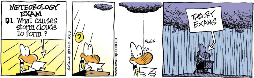 Swamp Cartoon - Storm CloudsMay 30, 2003