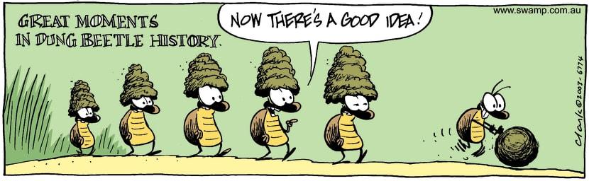Swamp Cartoon - Dung HistoryMay 31, 2003