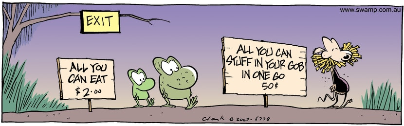 Swamp Cartoon - All You Can EatJune 5, 2003