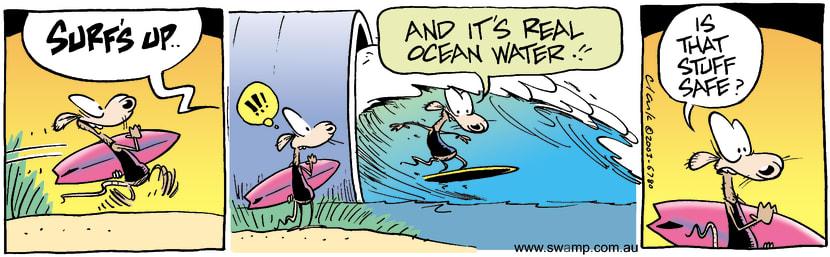 Swamp Cartoon - Surfs UpJune 7, 2003